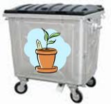 Illustration conteneur déchets verts