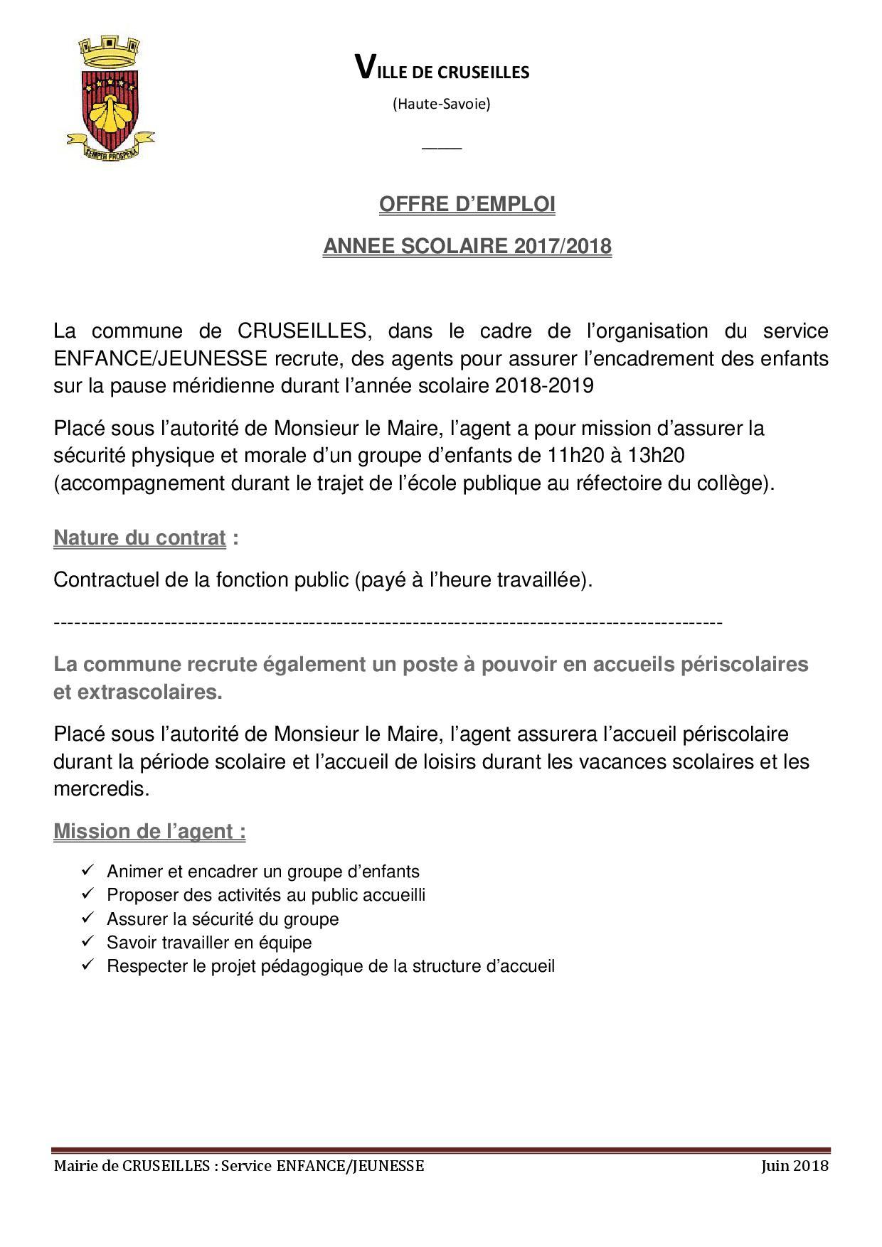 Recrutement 2018-20191