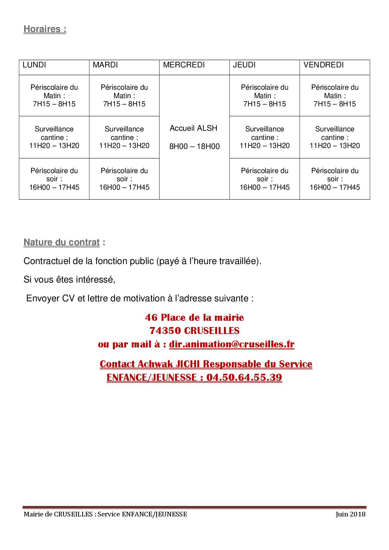 Recrutement 2018-20192