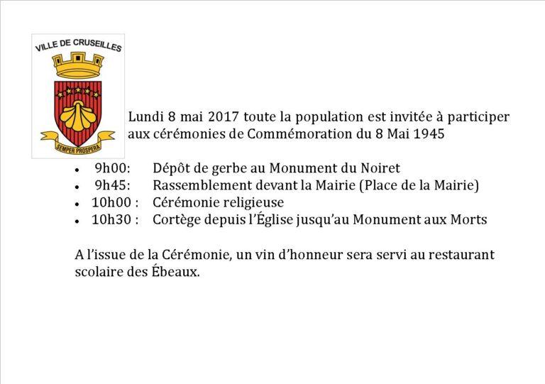 Commémoration du 8 mai à Cruseilles