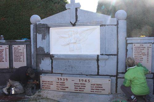 Travaux du Monument aux Morts