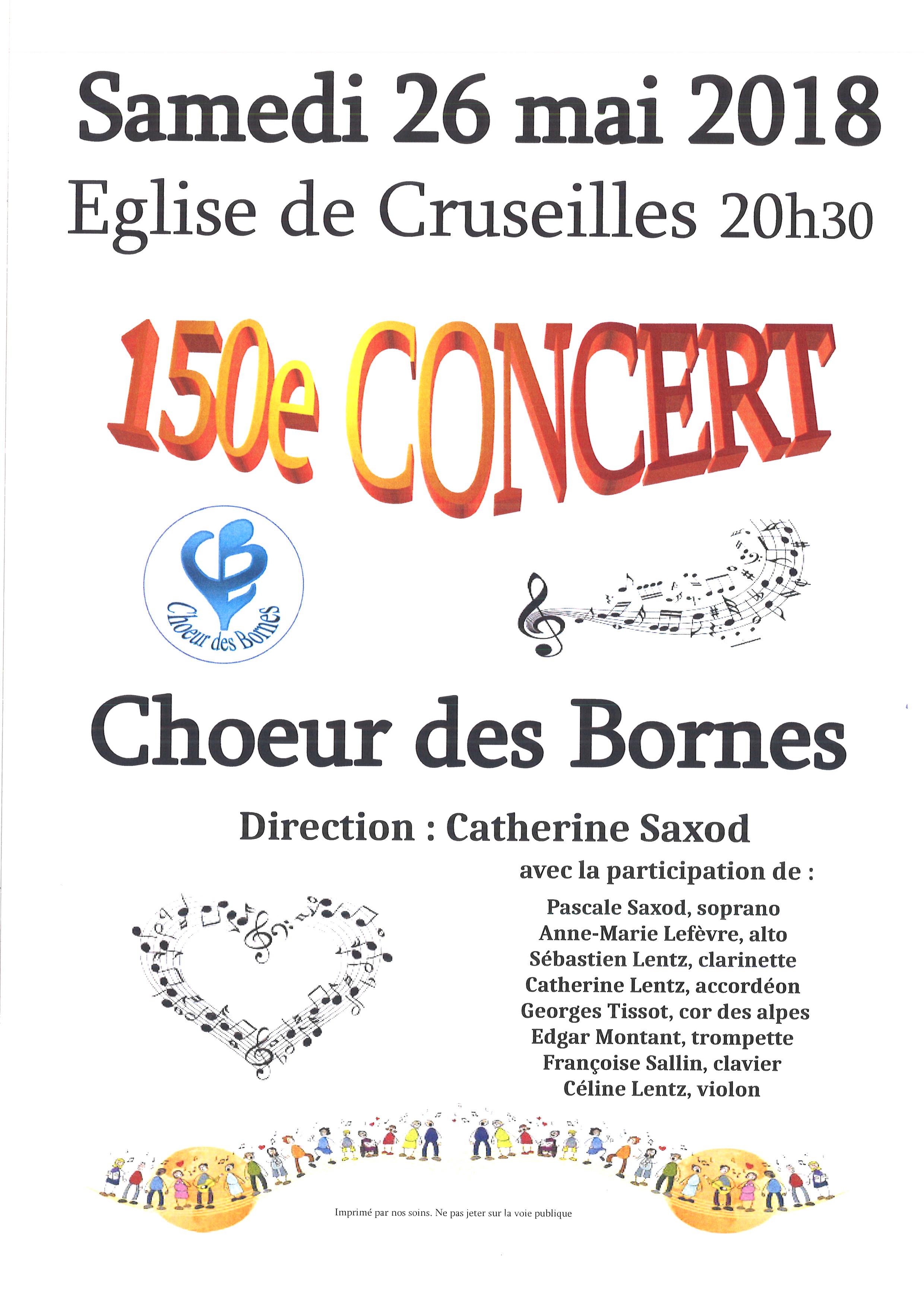 concert choeur des bornes