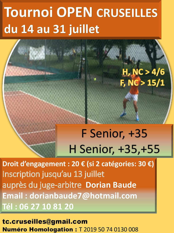 Tennis tournoi open