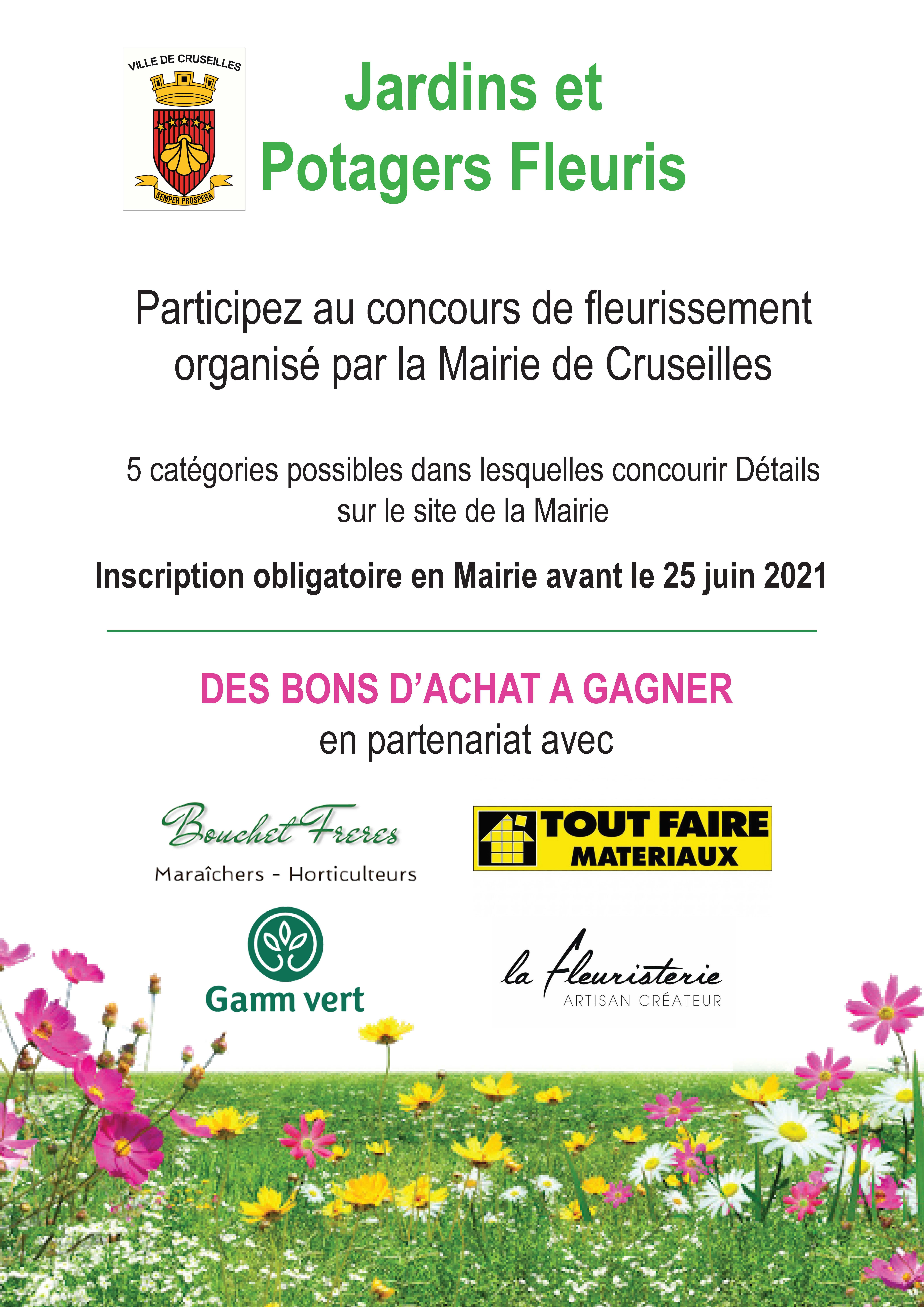 Affiche concours fleurissement