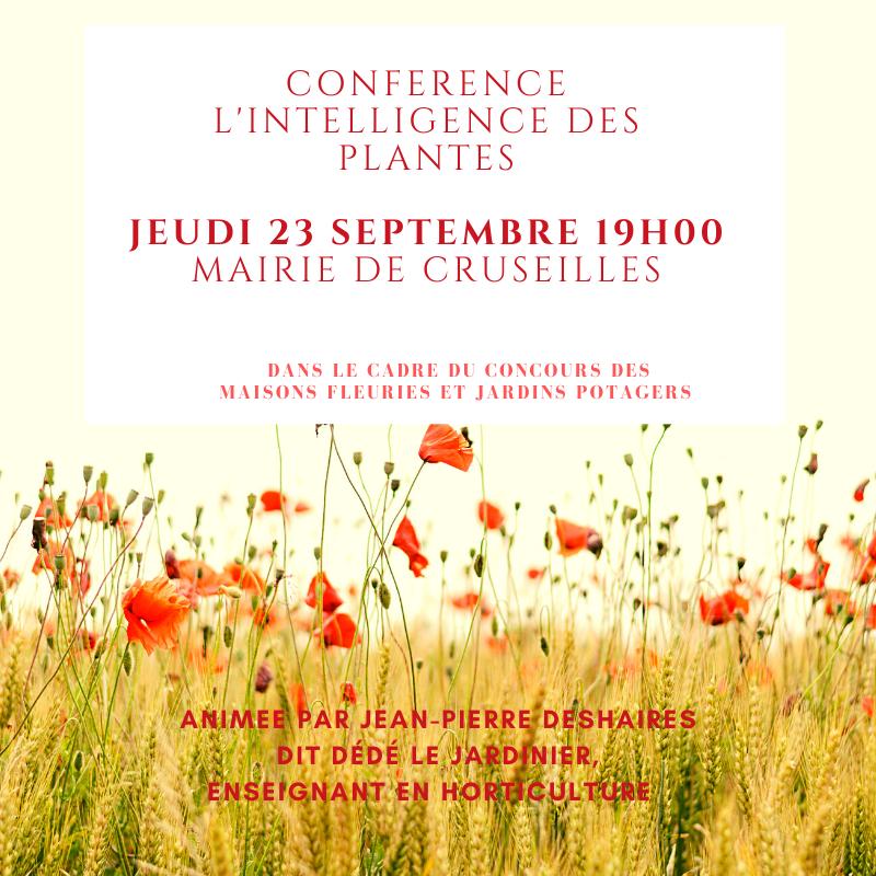 Conference intelligence des plantes